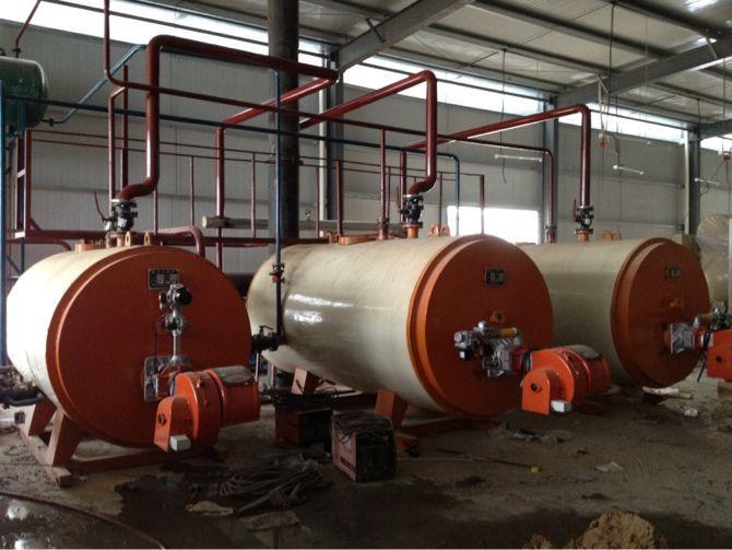 江苏3台100万大卡燃气导热油炉